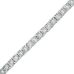 1 CT. T.W. Diamond Tennis Bracelet in Sterling Silver