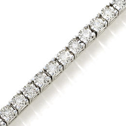 1-1/2 CT. T.W. Diamond Tennis Bracelet in Sterling Silver
