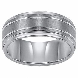 Triton Men's 9.0mm Comfort Fit Tungsten Carbide Wedding Band