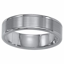 Triton Men's 6.0mm Comfort Fit Tungsten Carbide Wedding Band
