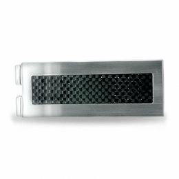 Stainless Steel Money Clip with Carbon Fiber Inlay