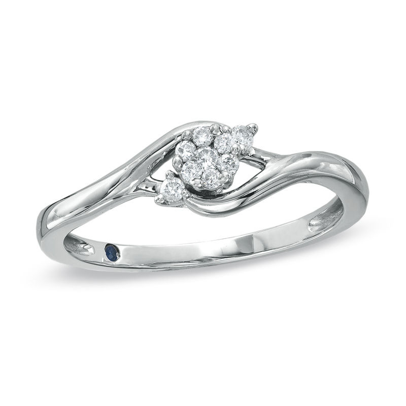marquise frame v ring t composite in silver w diamond engagement p size sterling ct tw