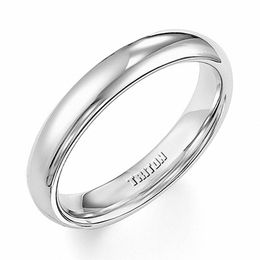 Triton Men's 4.0mm Comfort Fit Tungsten Wedding Band