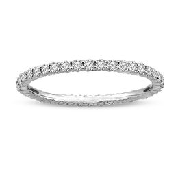 1/2 CT. T.W. Diamond Eternity Wedding Band in 14K White Gold