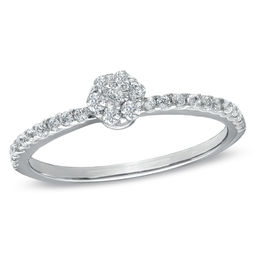 1/4 CT. T.W. Composite Diamond Promise Ring in 10K White Gold
