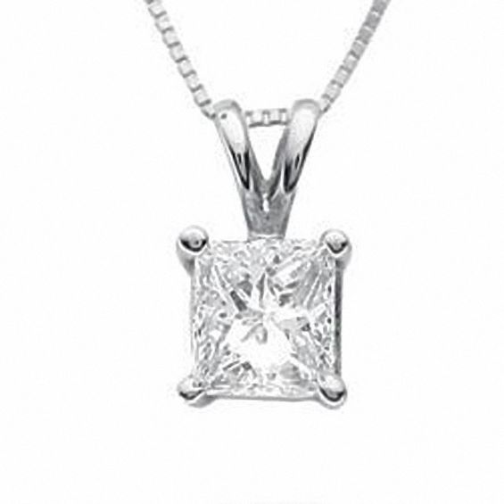 diamond princess i in cut canadian ct p princesscut certified pendant white v gold