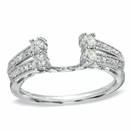 tw diamond solitaire enhancer in 14k white gold - Wedding Ring Enhancers