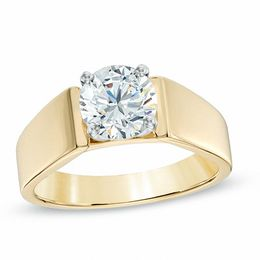 1-1/5 CT. Certified Diamond Solitaire Engagement Ring in 14K Two-Tone Gold (J/I2)