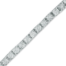1/4 CT. T.W. Diamond Tennis Bracelet in Sterling Silver - 7.25""