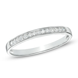 1/10 CT. T.W. Diamond Anniversary Band in 10K White Gold