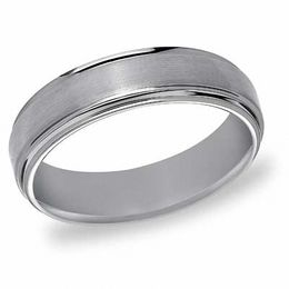 Triton Men's 6.0mm Comfort Fit Tungsten Wedding Band