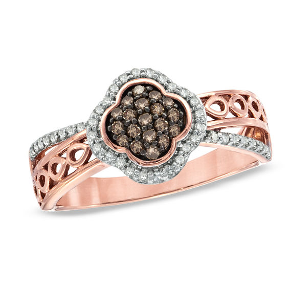 cleef gold arpels rings jewelry in clover diamond replica pink search van knowledgevan
