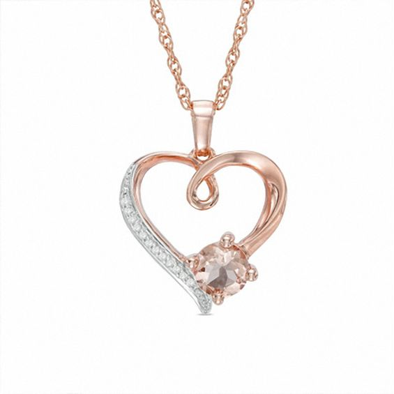 60mm morganite and diamond accent heart pendant in sterling silver 60mm morganite and diamond accent heart pendant in sterling silver with 14k rose gold plate aloadofball Image collections