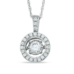 6fd3cfc3ae8 Unstoppable Love™ 1 3 CT. T.W. Diamond Frame Pendant in 10K White Gold