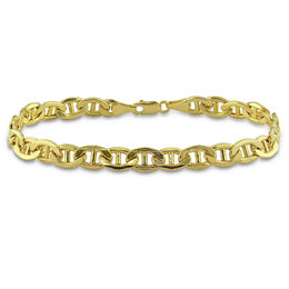 Men's 7.0mm Mariner Chain Bracelet in 10K Gold - 9.0""
