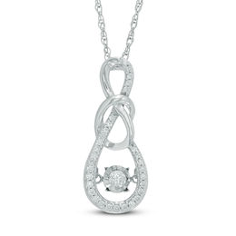 Unstoppable Love™ 1/5 CT. T.W. Diamond Infinity Knot Pendant in 10K White Gold