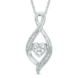 Unstoppable Love™ Diamond Accent Infinity with Heart Pendant in Sterling Silver