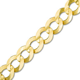 Men's 7.0mm Curb Chain Bracelet in 14K Gold - 8.5""
