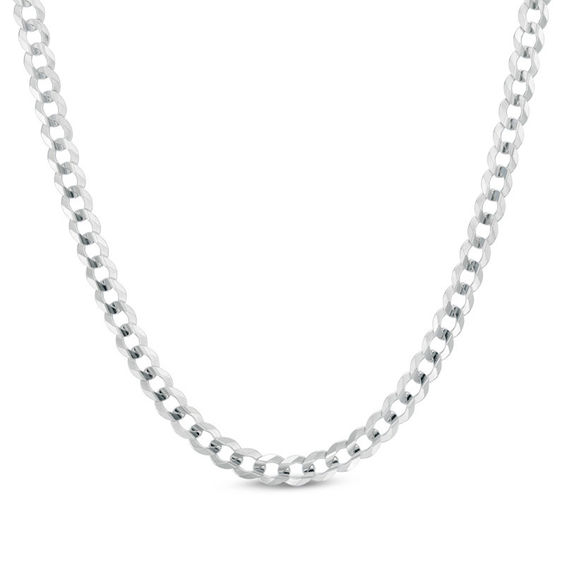 Gordons Credit Card >> Men's 4.7mm Curb Chain Necklace in 14K White Gold - 24"