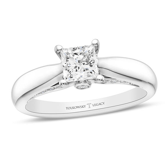 Tolkowsky Diamond Solitaire Ring