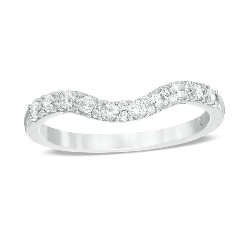 Love S Destiny By Zales 1 3 Ct T W Certified Diamond Contour