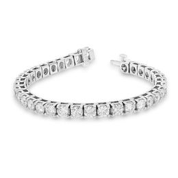 12 CT. T.W. Diamond Tennis Bracelet in 14K White Gold (I/I1)
