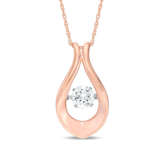 bca4572eb83 Unstoppable Love™ 1 2 CT. Diamond Solitaire Flame Pendant in 10K Rose Gold