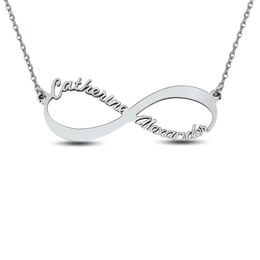 Couple's Sideways Infinity Necklace (2 Names)