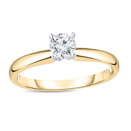 1/3 CT. Diamond Solitaire Engagement Ring in 14K Gold