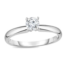 1/3 CT. Diamond Solitaire Engagement Ring in 14K White Gold