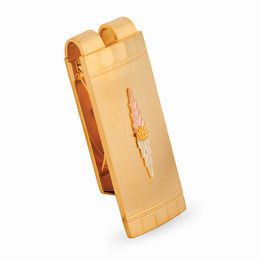 Men's Black Hills Gold Money Clip in 24K Gold Electroplate