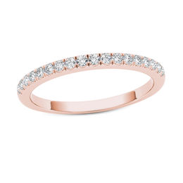 1/3 CT. T.W. Diamond Wedding Band in 10K Rose Gold
