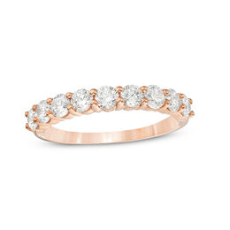 1 CT. T.W. Diamond Wedding Band in 10K Rose Gold