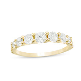 1 CT. T.W. Diamond Graduated Anniversary Band in 14K Gold